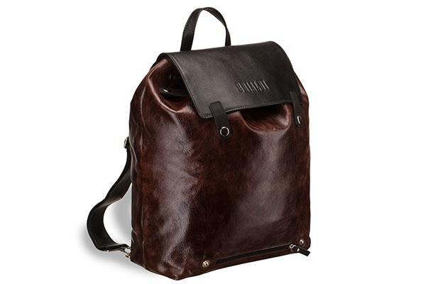 Коричневый кожаный рюкзак Brialdi Laredo