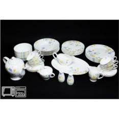 Чайно-столовый сервиз на 6 персон Сиреневый цветок