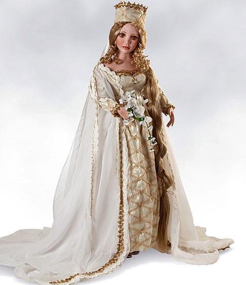 Коллекционная номерная фарфоровая кукла Златовласка