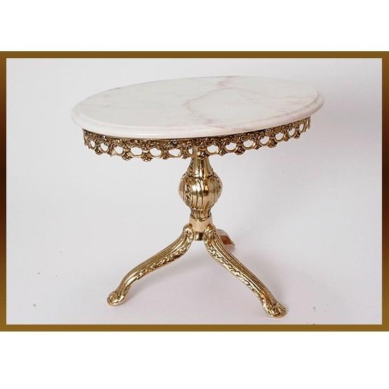 Бронзовый стол овальный