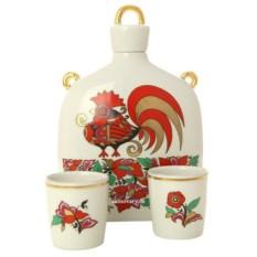 Подарочный набор для вина Красный Петух (фарфор)