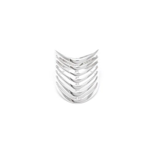 Серебряное кольцо в виде чалмы