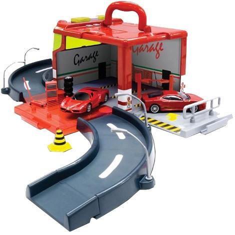 Игровой набор Bburago Гараж с машинкой Ferrari