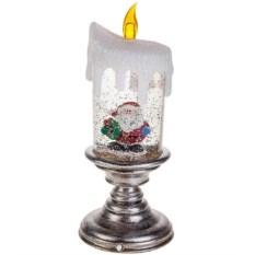 Светящееся украшение для интерьера Свеча и Дед Мороз