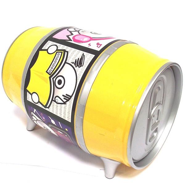 Box для CD Пивная бочка желтого цвета.