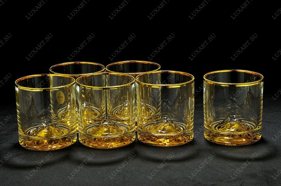 Набор хрустальных стаканов для виски из 6 штук