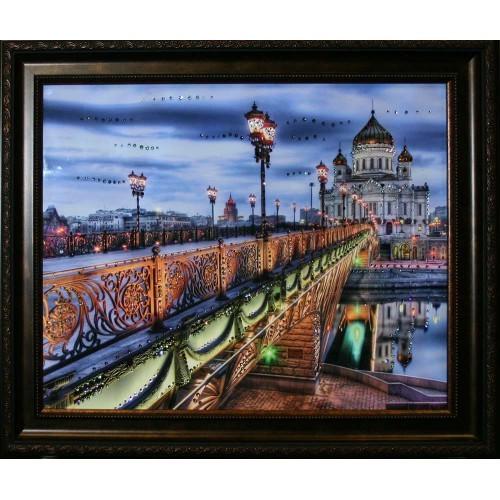 Картина Swarovski Патриарший мост