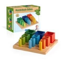 Сортер-пирамидка «Составляй и вставляй кубы»