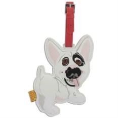 Кожаный ярлык на сумку English Bull Terrier