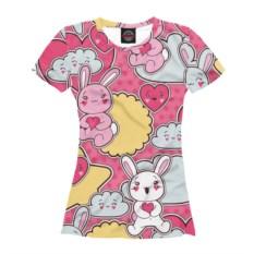 Женская футболка Влюбленные кавайняшки