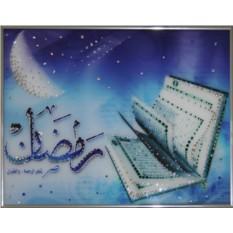 Картина с кристаллами Swarovski Изумрудный Коран