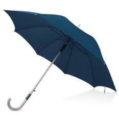 Полуавтоматический синий зонт-трость с алюминиевой ручкой