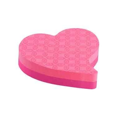 Блок-куб с клейким краем сердце
