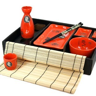 Набор для суши и сакэ на 1 персону 36*27см