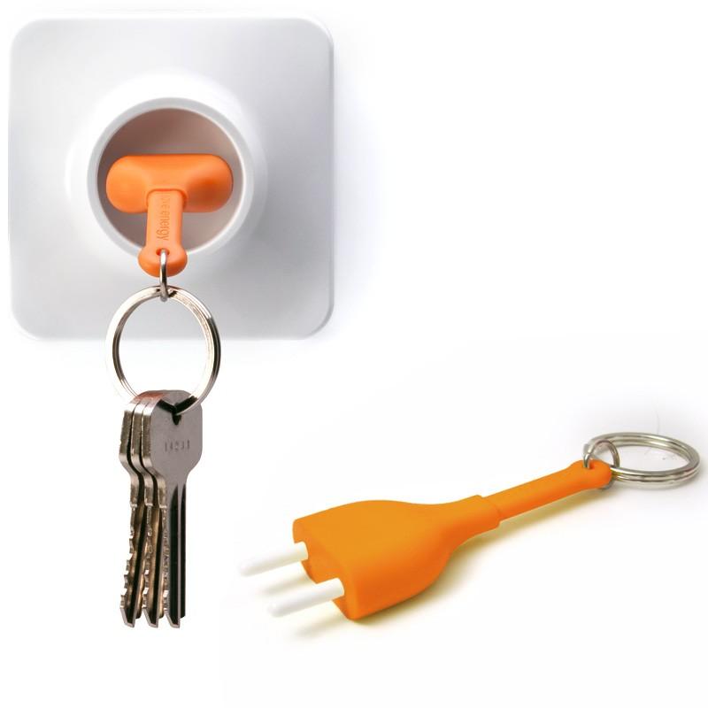 Брелок+держатель для ключа Unplug, оранжевый