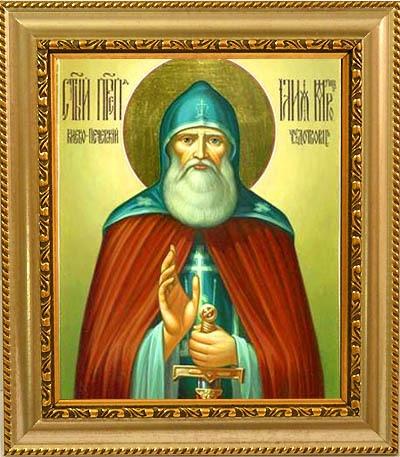 Илья Муромец Печерский Преподобный. Икона на холсте.