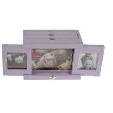 Фиолетовый архивный фотоальбом Мои родные на 48 фото