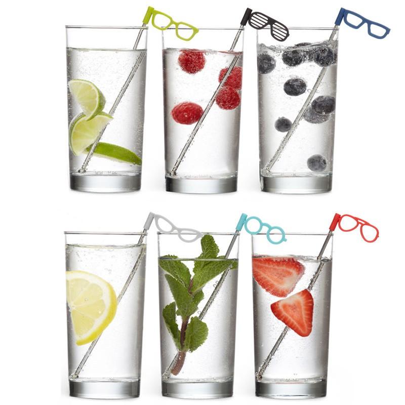 Соломинки для коктейля Glasses 6 шт.