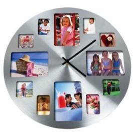 Часы с фоторамками круглые