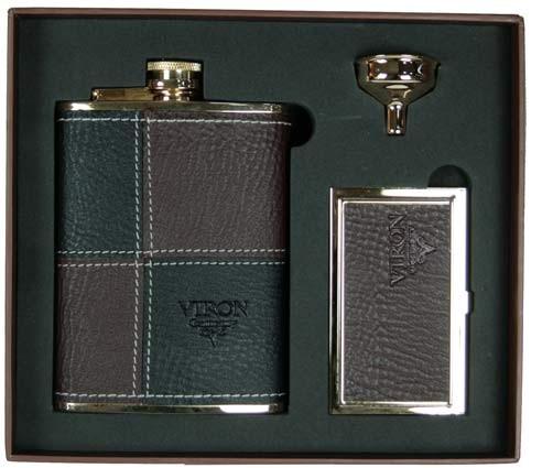 Подарочный набор VIRON: фляжка, воронка, визитница