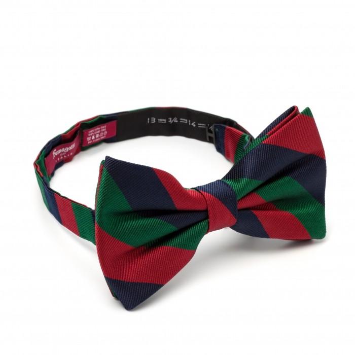 Бабочка Fumagalli из шёлка, зеленый-синий-красный