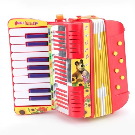Музыкальная игрушка Аккордеон Маша и Медведь (5 функций)