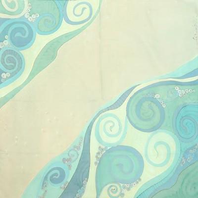 Платок из натурального шелка Волна