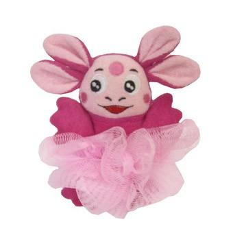 Мочалка розовая «Лунтик»
