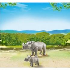 Конструктор Playmobil City Life Zoo Носорог с носорожком