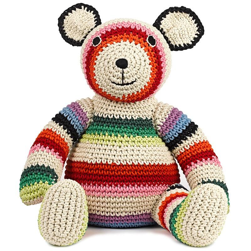 Игрушка вязаная Bear Mix Stripe