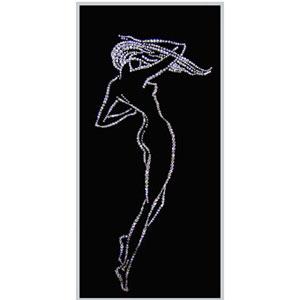 Картина с кристаллами «Женский силуэт»