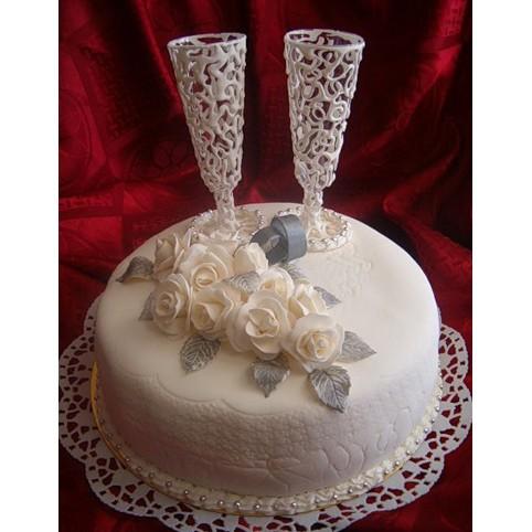 Украшения из мастики на свадебный торт своими руками