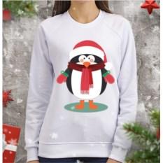 Женский свитшот Пингвин в шарфе