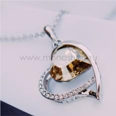 Кулон с кристаллом цвета шампань «Хрустальное сердце»
