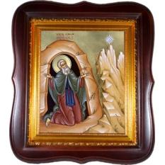 Симон Мироточивый Преподобный Симонопетрский. Икона, холст