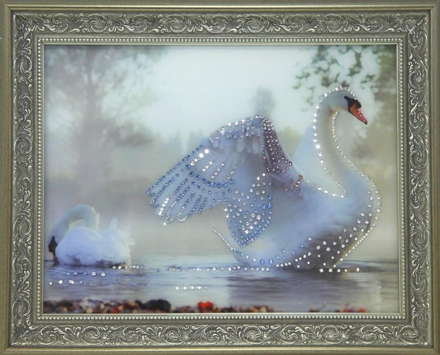 Картина с кристаллами Swarovski Всегда рядом