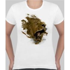 Женская футболка Львиный оскал