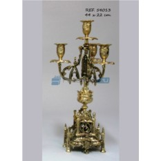 Пара золотистых канделябров на 4 свечи Machado