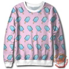 Розовый свитшот Мороженое эскимо