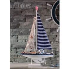 Модель яхты c парусом-сеткой 59 см