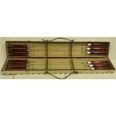 Набор профессиональных шампуров 470х10х2,5 мм. 12 шт.
