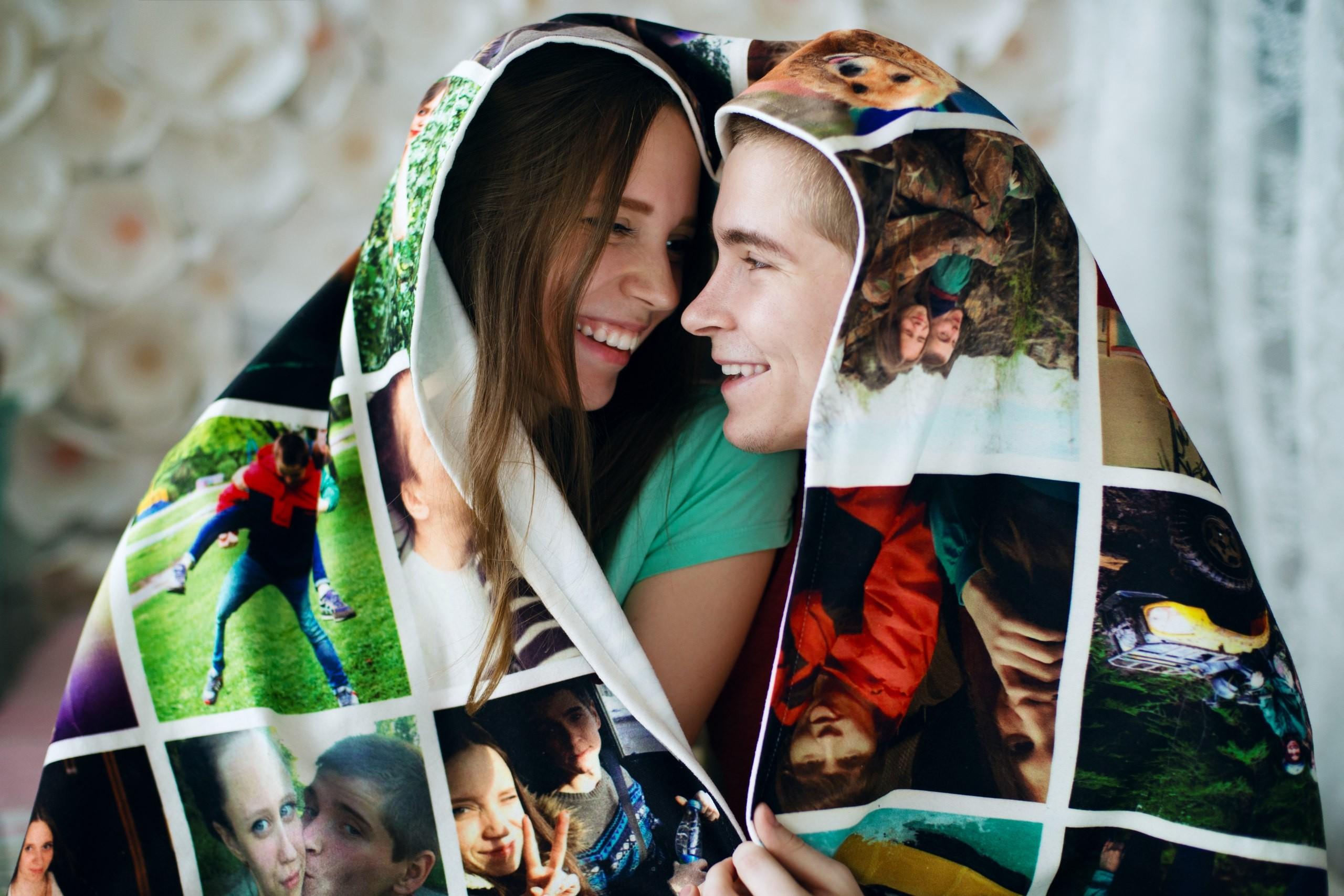 Одеяло-плед с фотографиями