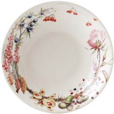 Фаянсовая глубокая тарелка Gien Букет