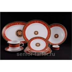 Столовый сервиз Leander – Сабина (Версаче Красная лента) на 6 персон (24 предметов) 31632
