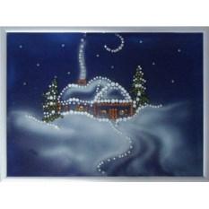 Картина Swarovski Зима. Пейзаж