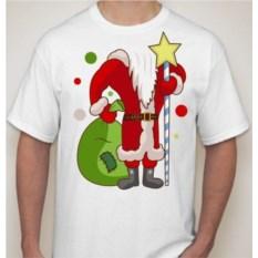 Мужская футболка Дед мороз с мешком