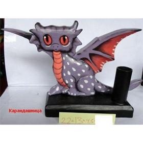 Карандашница Сиреневый дракон