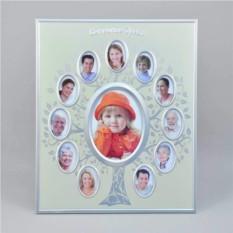 Фоторамка с золотистым фоном Семейное древо