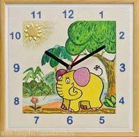 Настенные часы из песка Слоненок
