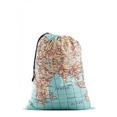 Складной дорожный мешок для белья Карта Мира